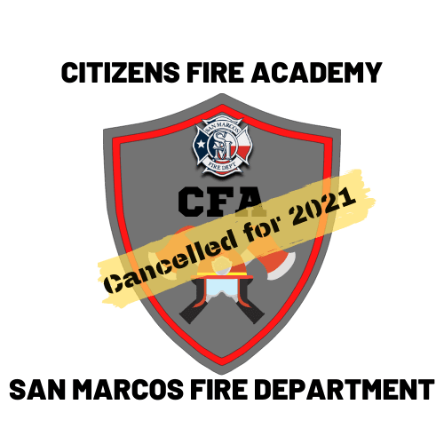 2021 Cancelled SMFD CITIZENS FIRE ACADEMY LOGO